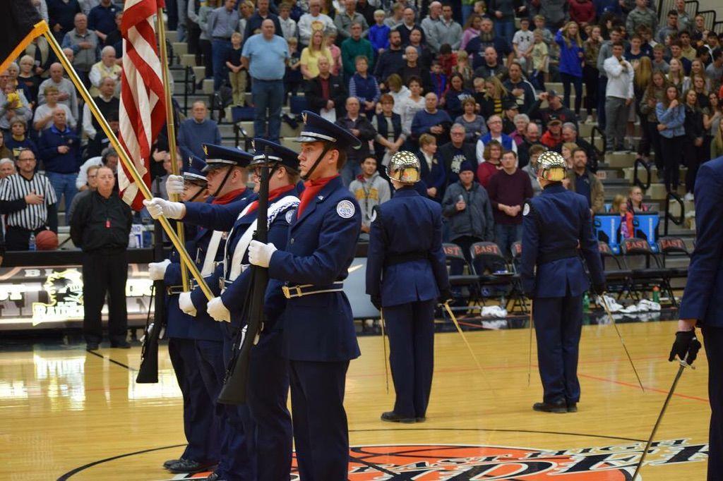 Air Force JROTC Cadets Presenting the Colors
