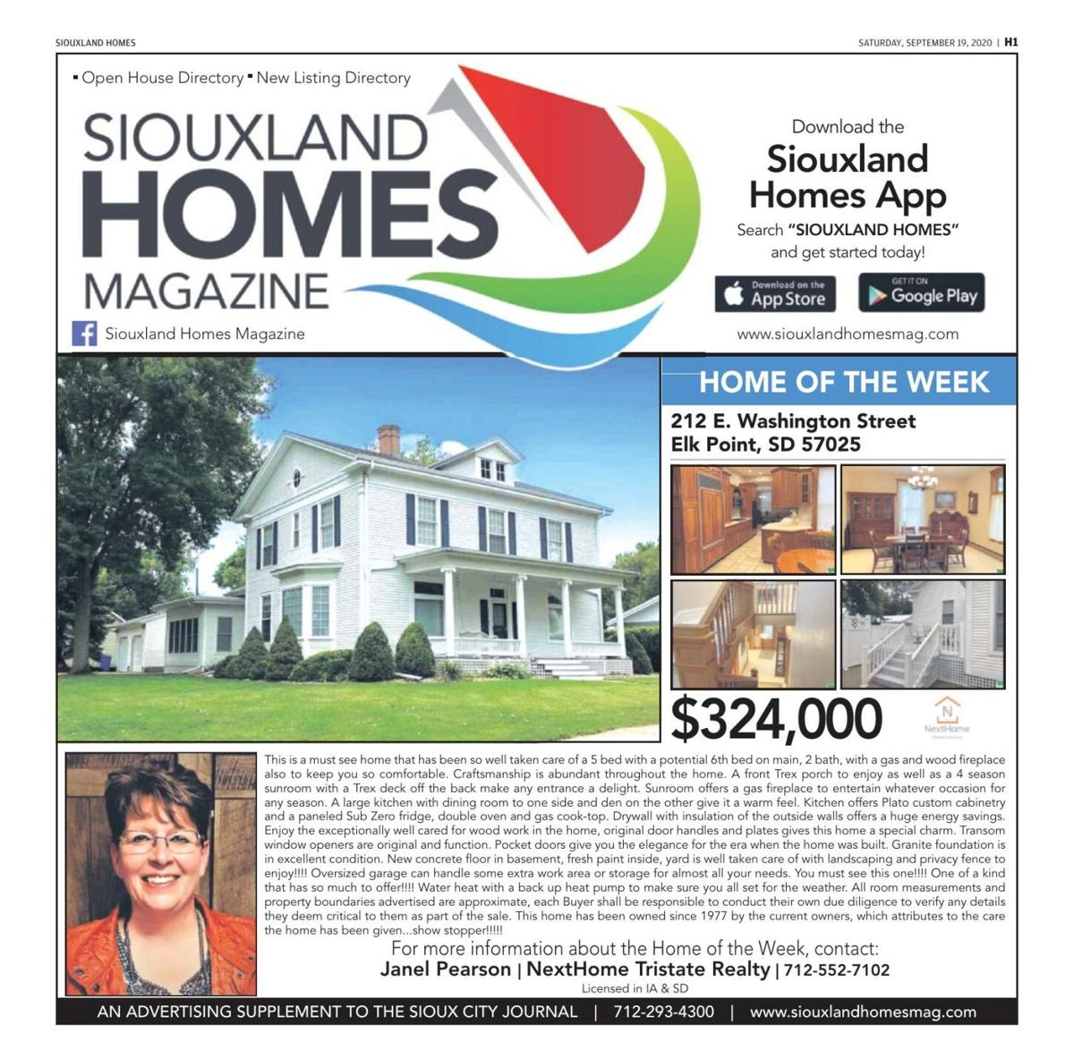 Siouxland Homes - September 19, 2020