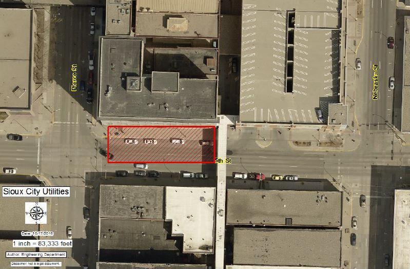 Fifth Street lane closure