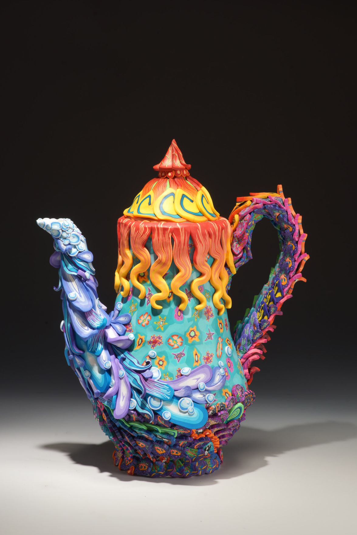 Art Splash Teapot top Minneapolis Artist, Layl McDill