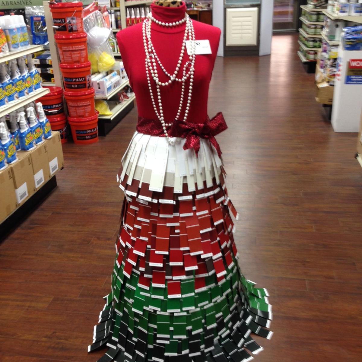 paint card dress