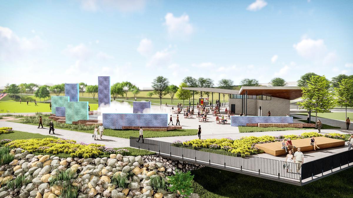 Missouri River riverfront redevelopment rendering