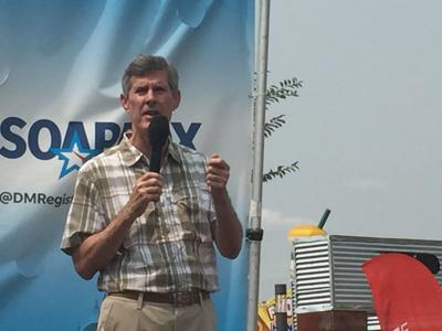 Fred Hubbell at Iowa state fair