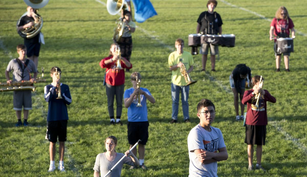 North High School marching band