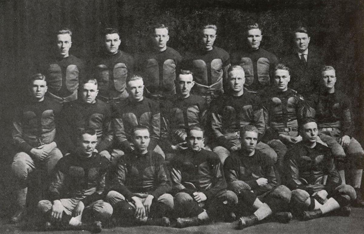 1917: Morningside football squad trounces Trinity College 62 to 7
