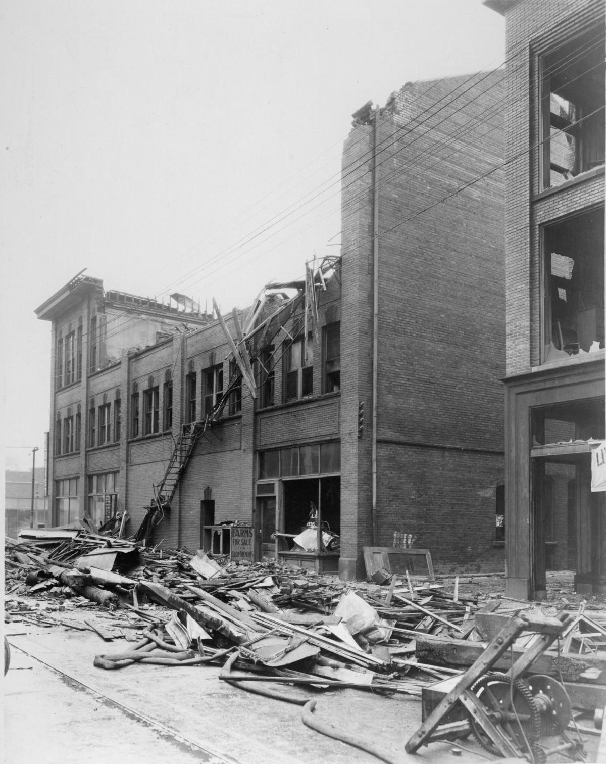 American building, fire 100 years ago