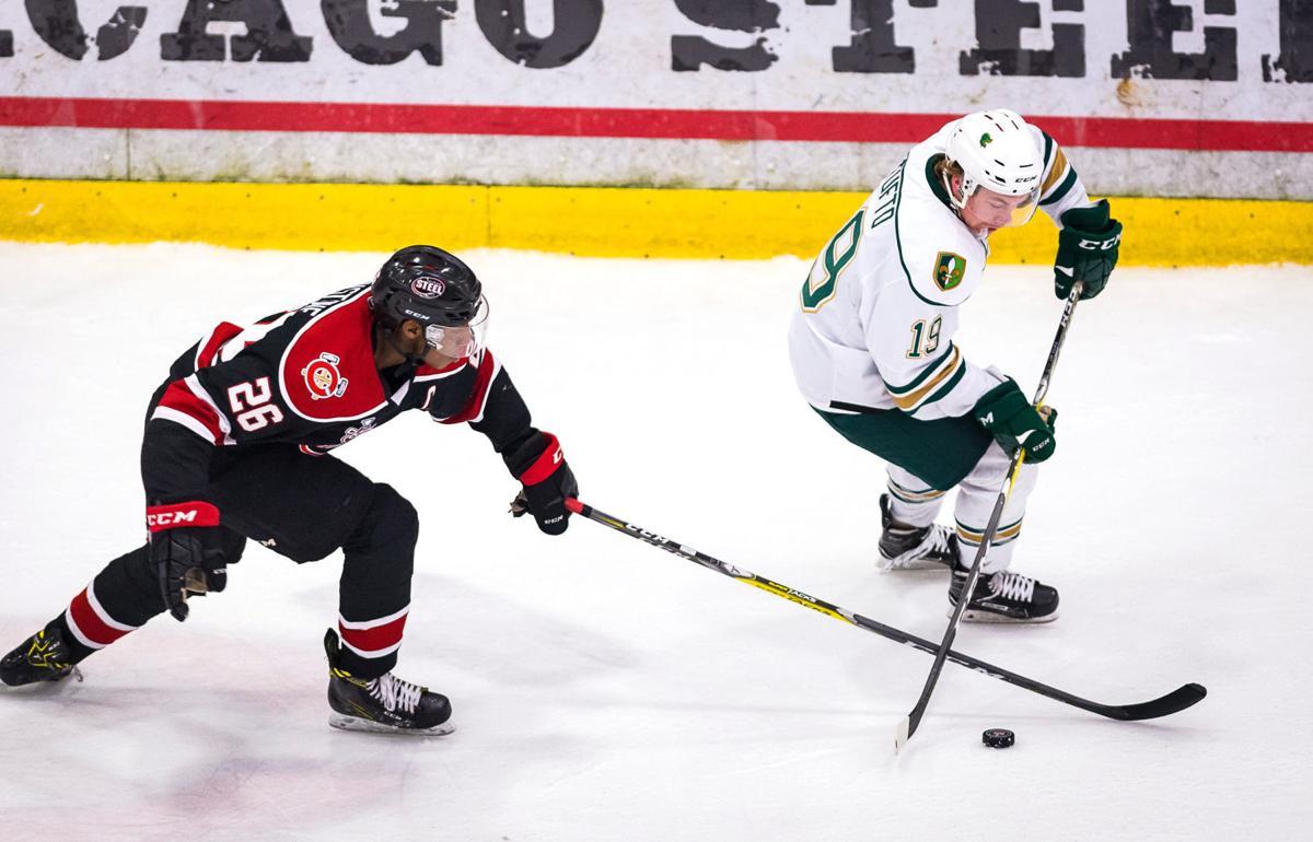 Musketeers vs Steel game 4 Clark Cup hockey