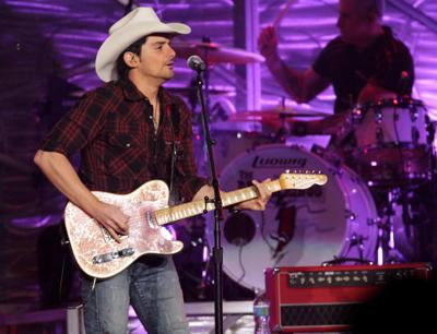 Brad Paisley performs at the Tyson Events Center