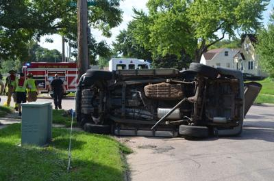 No injuries in Saturday afternoon collision, rollover