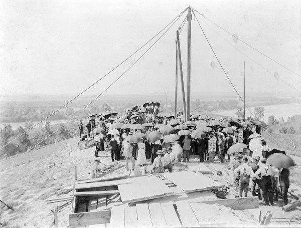Floyd Monument: Ground breaking