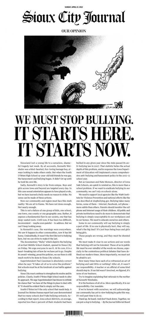 articles on bullying