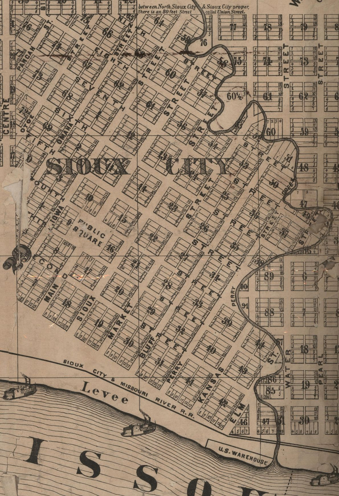 Sioux City in 1870 Street wise A