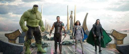 Review: 'Thor: Ragnarok' takes the god to funny heights