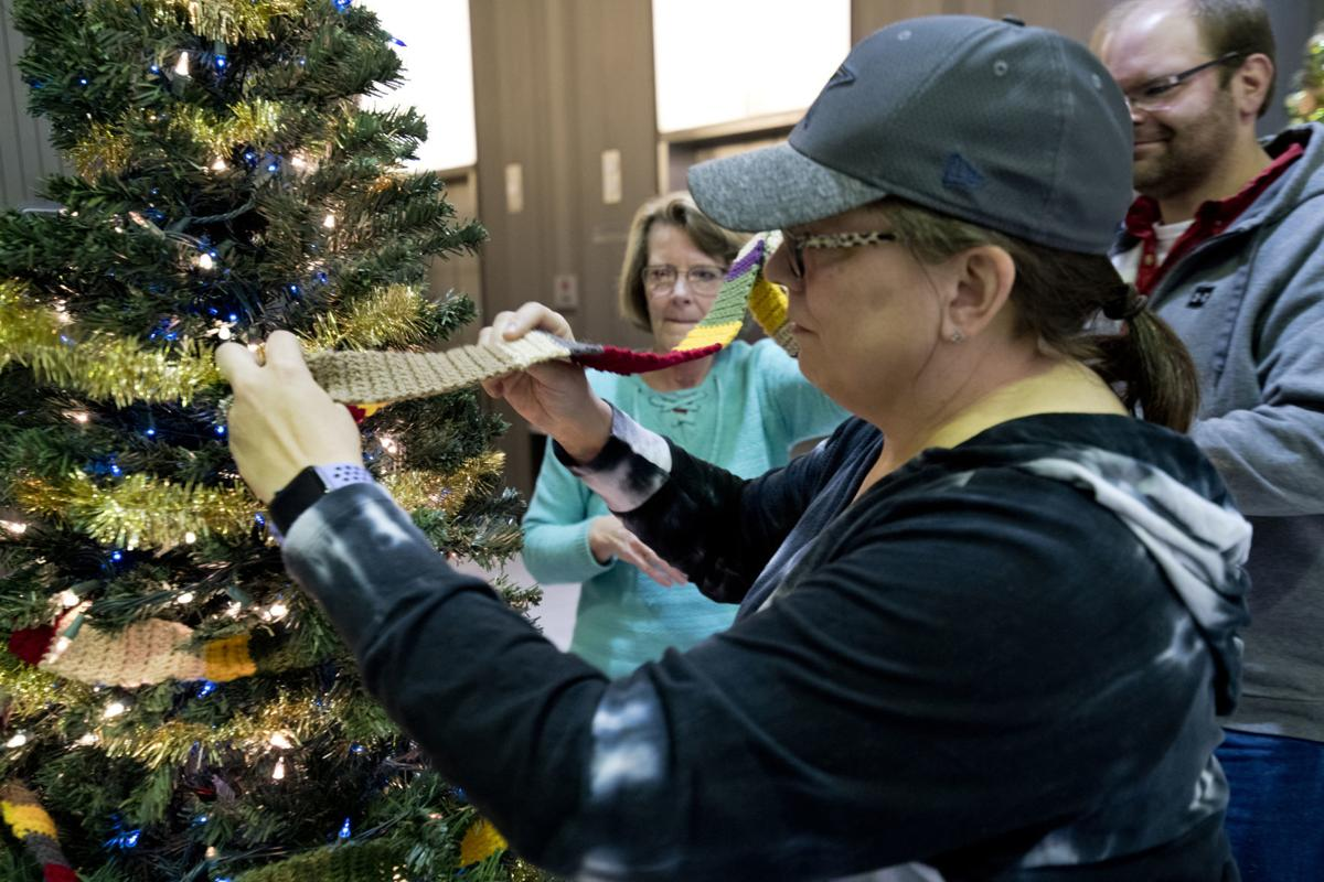 Decorating for Festival of Trees