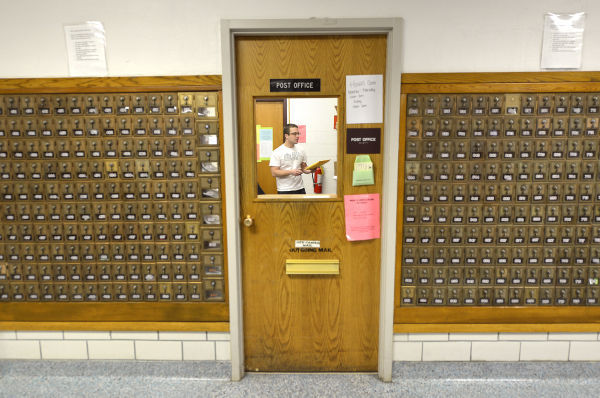 Morningside College student post office