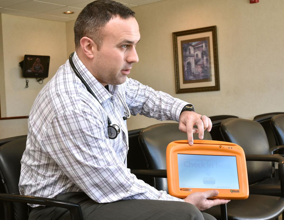Health clinic check-in tablets