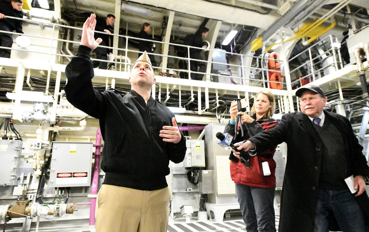 USS Sioux City commissioning tour