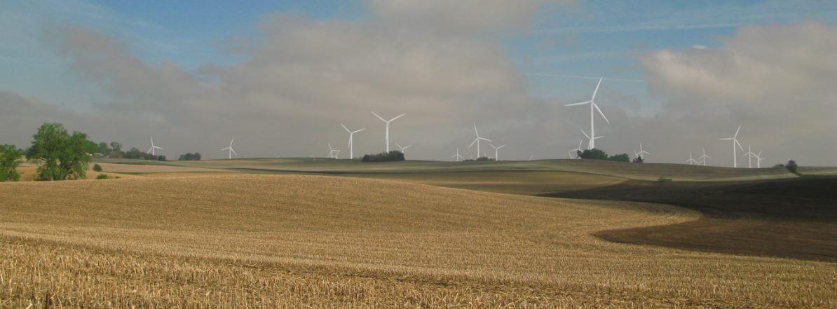 Simulation of Dixon County wind farm