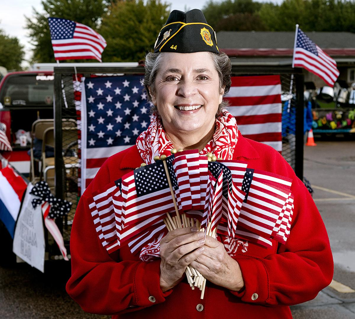 Female veteran Cynthia Aden