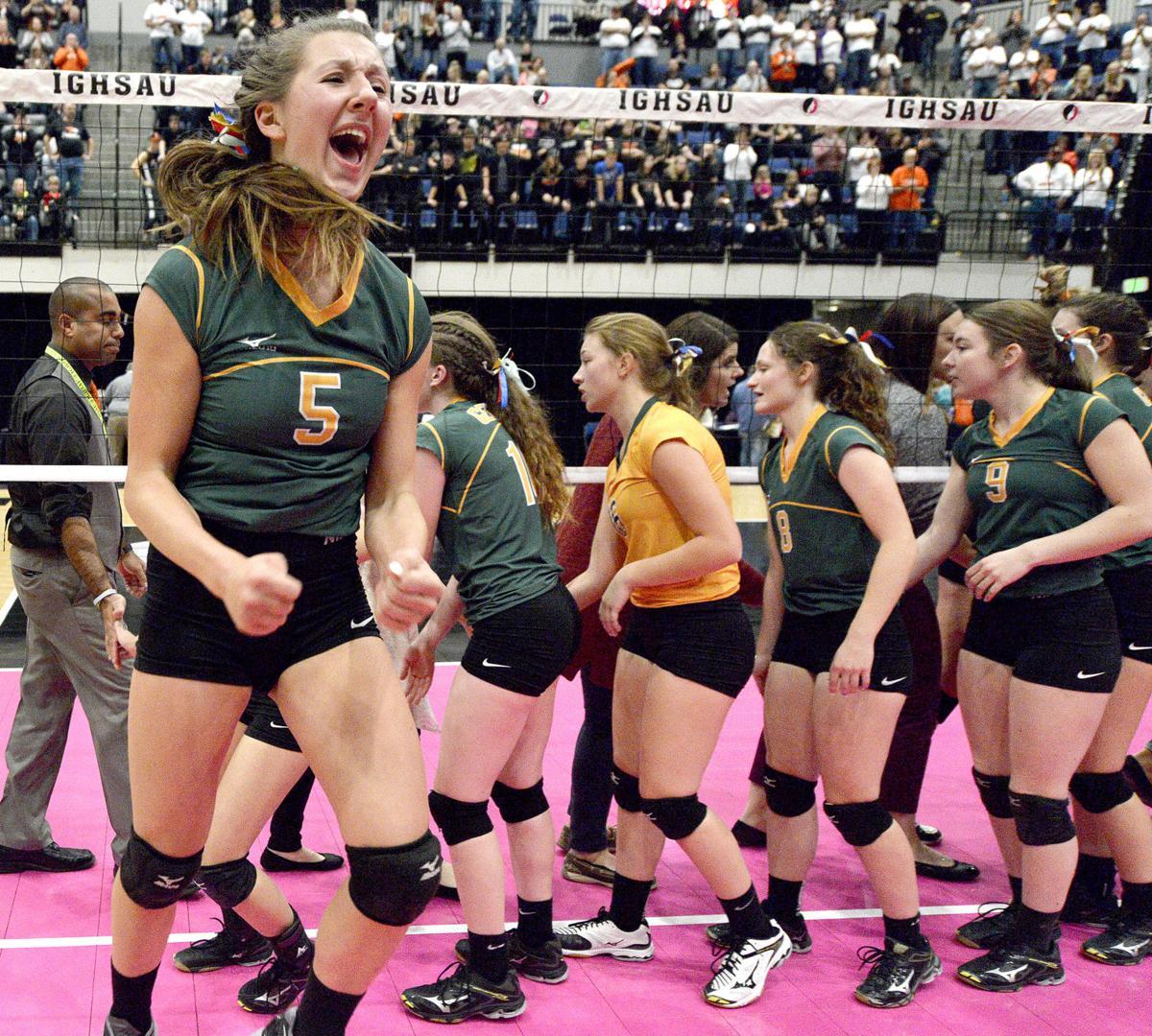 Gehlen Catholic vs Springville state volleyball