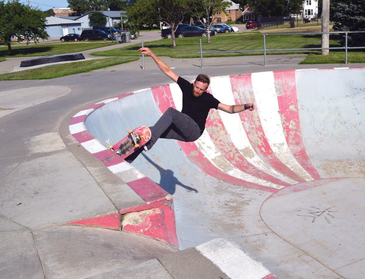Skateboarder David Hall
