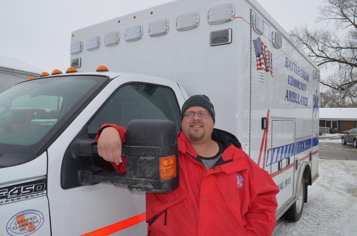 Battle Creek Iowa ambulance driver