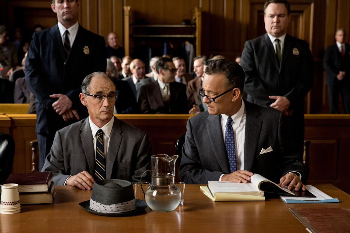 """Tom Hanks, right, is Brooklyn lawyer James Donovan and Mark Rylance is  Rudolf Abel, a Soviet spy arrested in the U.S. in """"Bridge of Spies."""""""