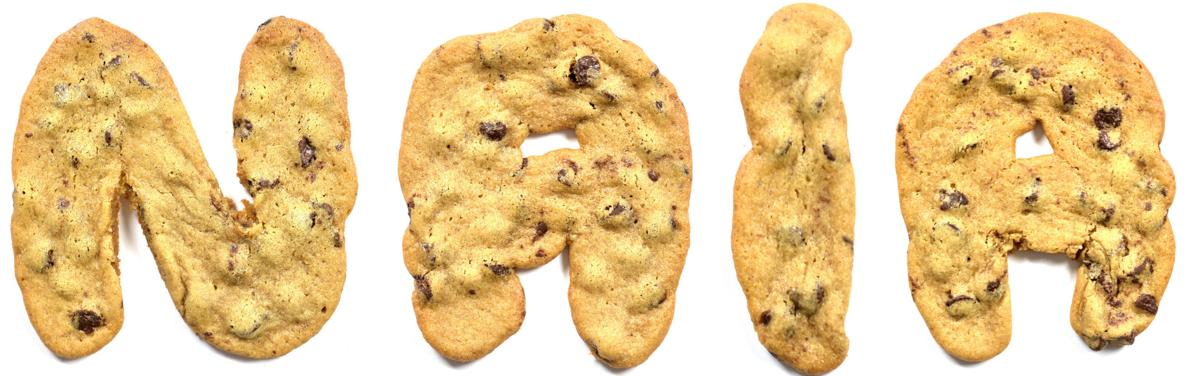 NAIA letter cookies
