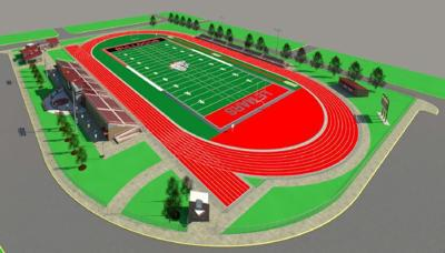 Le Mars sports complex rendering 1