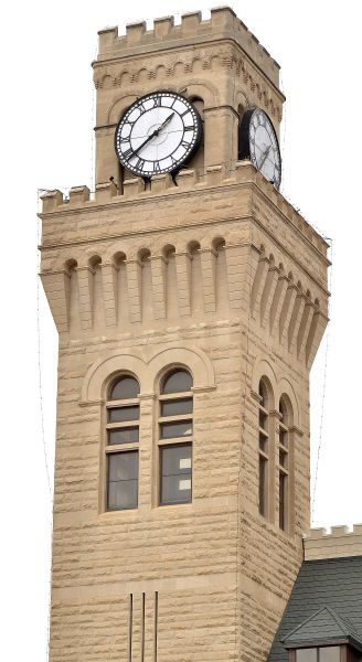 Sioux City City Hall clock tower
