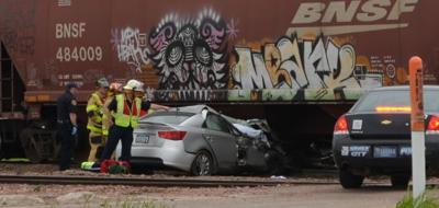 Car train crash
