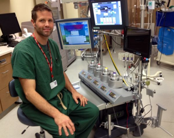 Perfusionist Controls Heart Lungs Fuction During Open Heart