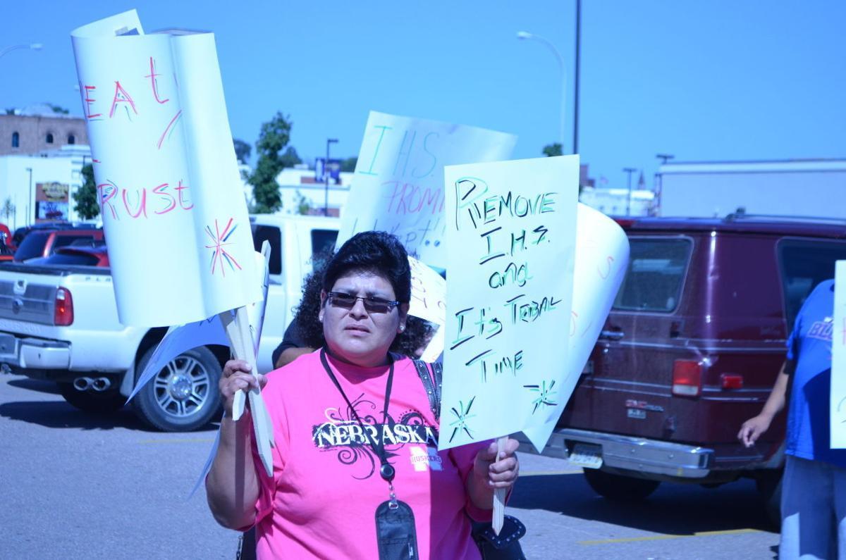 Omaha Tribe of Nebraska protesters