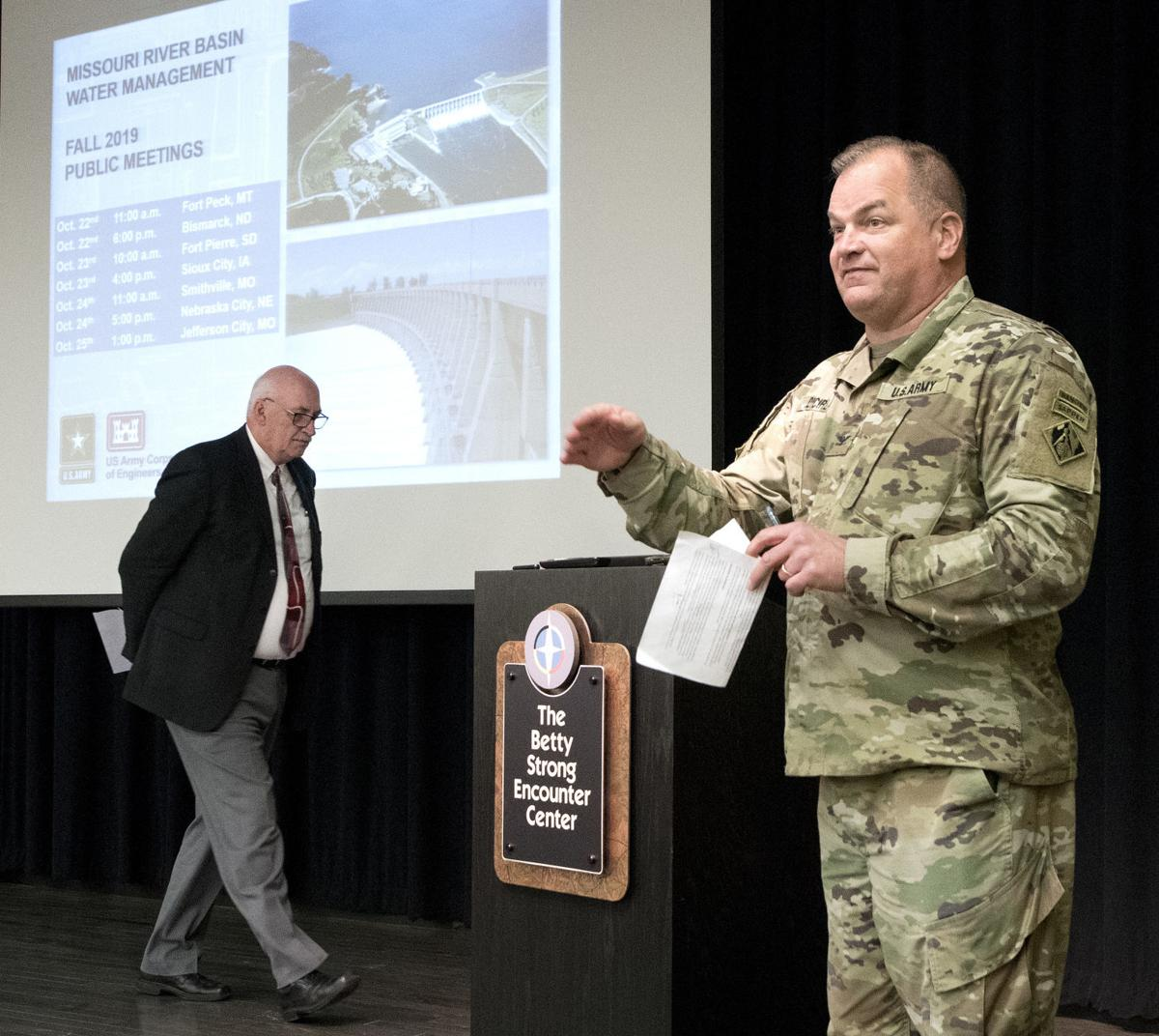 US Army Corps of Engineers Missouri River meeting