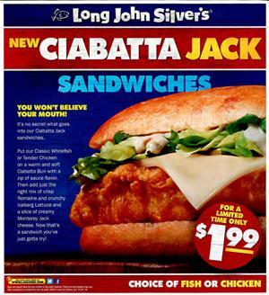 Ciabatta Jack Sandwiches - Limited Time!