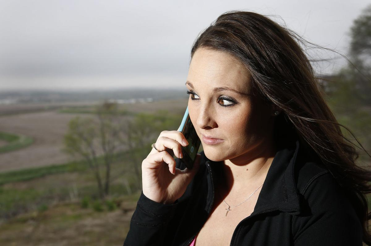 Cell phone user Nicolle DeRocher