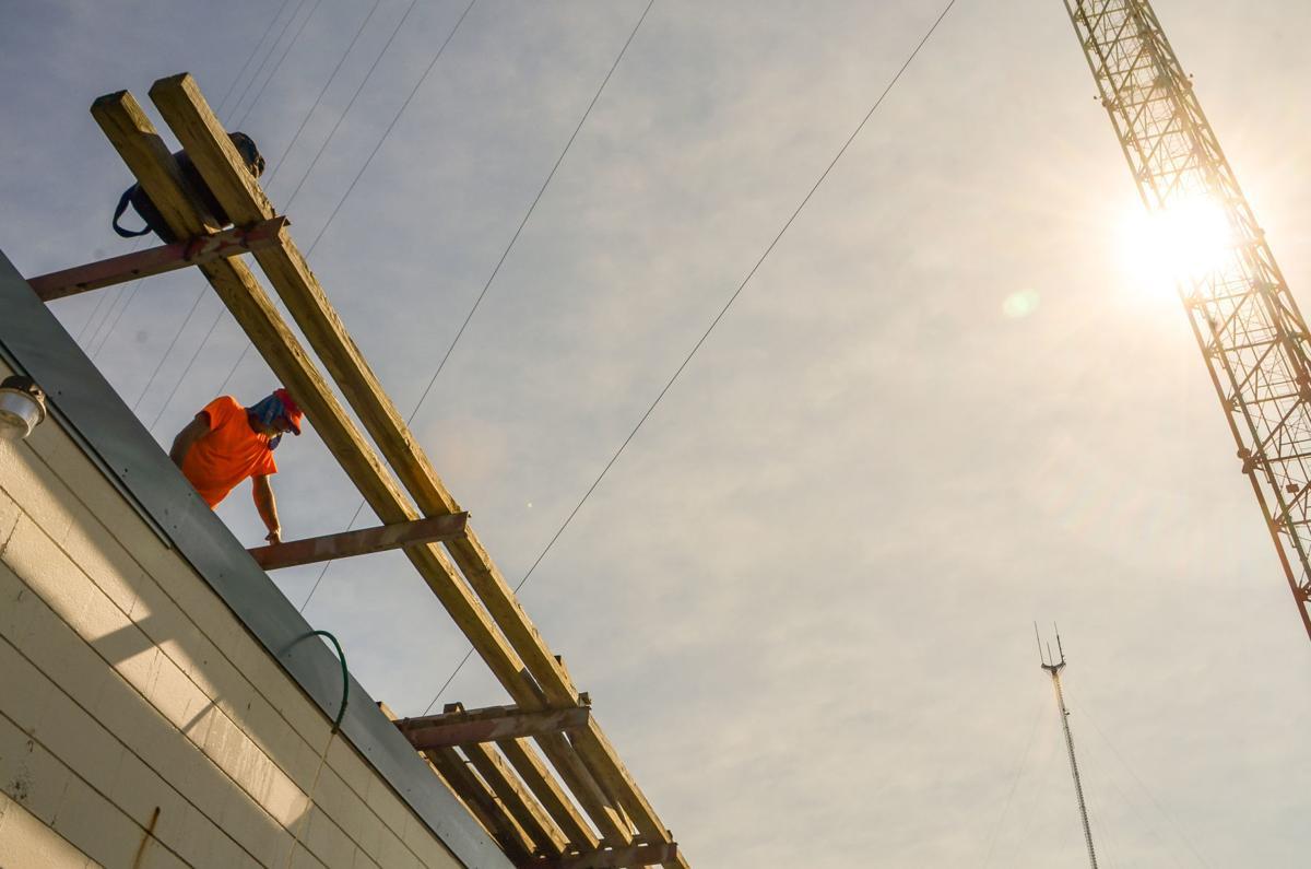 Roof work in heat