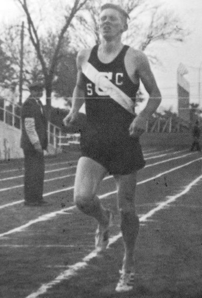 Miler Doug Smith, 1968 Central High school track