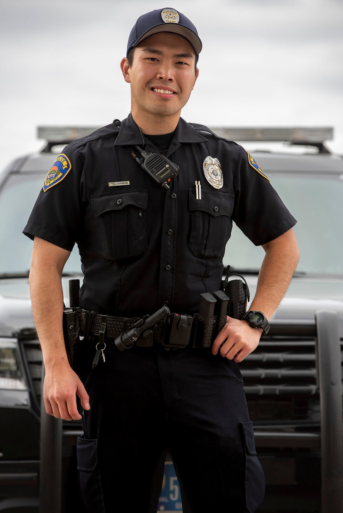 Sioux City Police officer Calvin Chang
