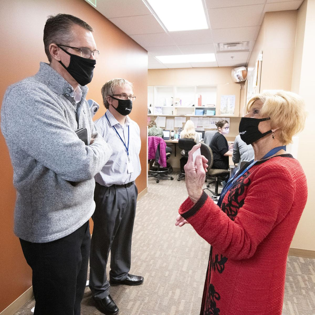 Randy Feenstra tours Siouxland Community Health Center 2