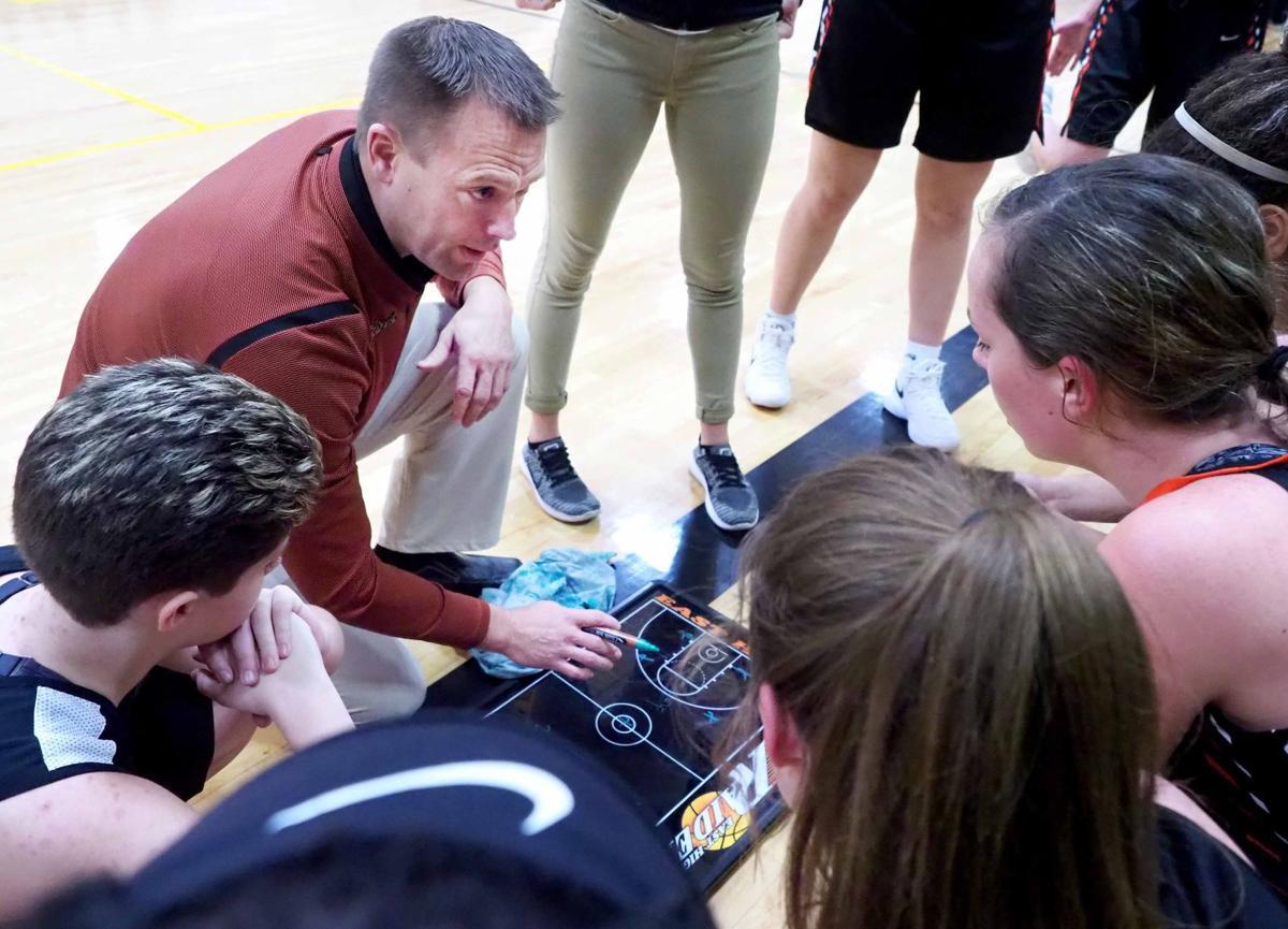 East basketball coach Brian Drent