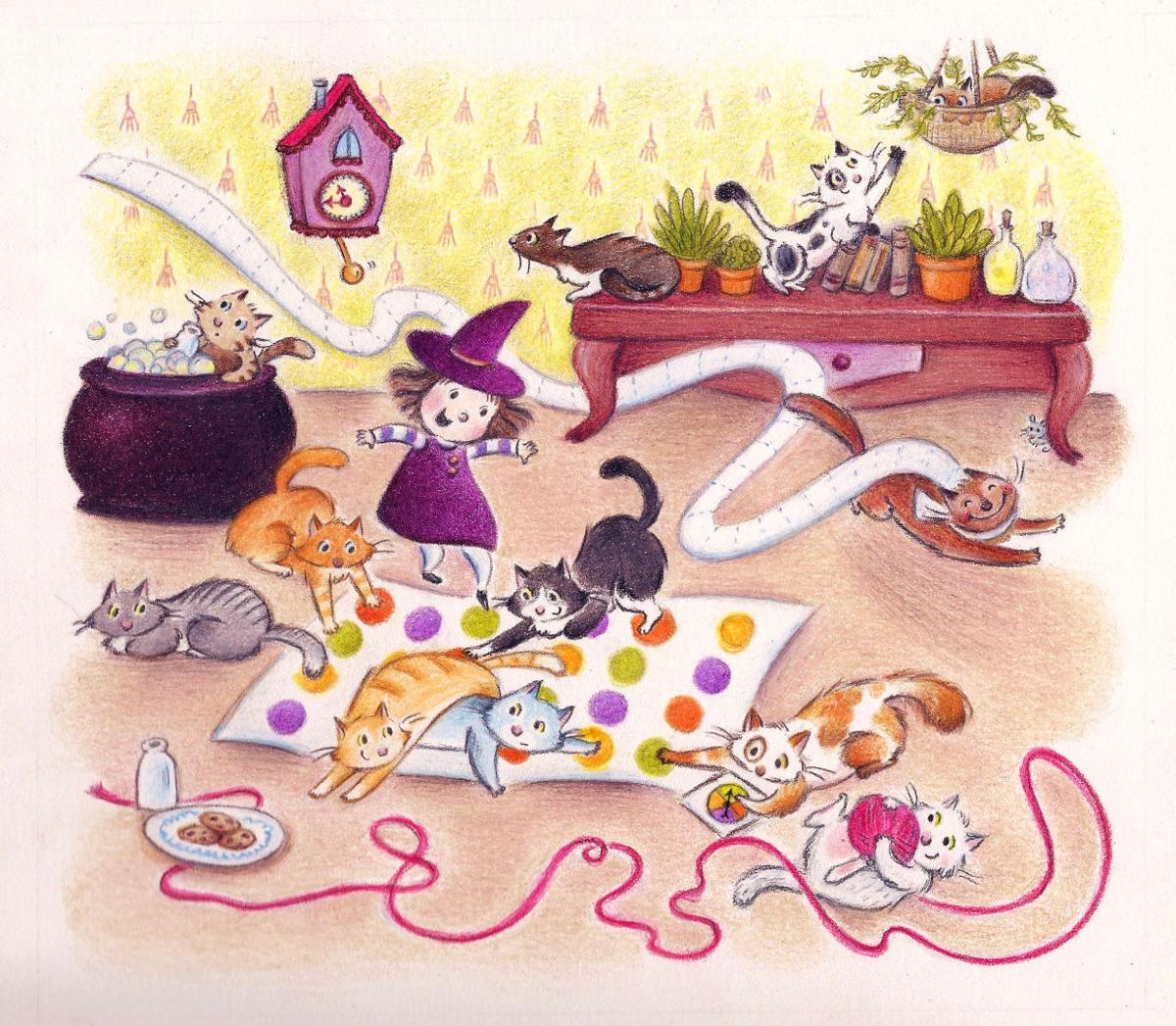 """Cat party"" Erin Taylor illustration"