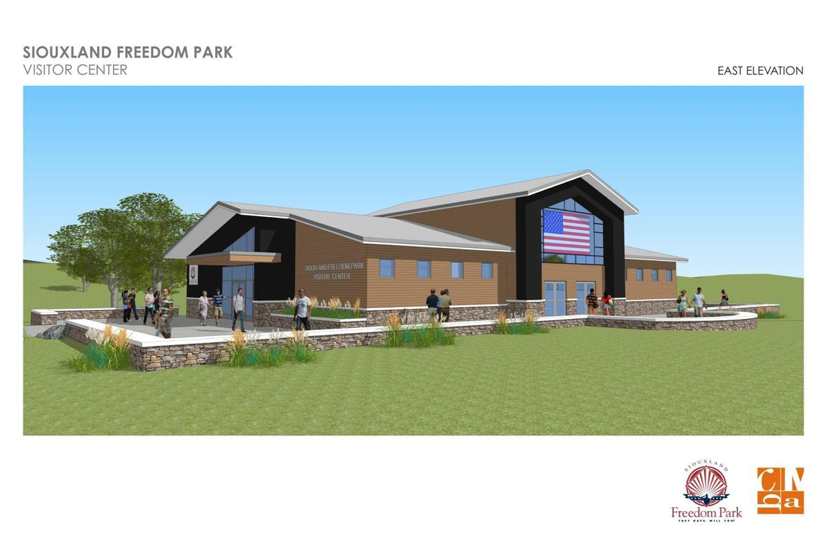 Siouxland Freedom Park visitor center, east elevation