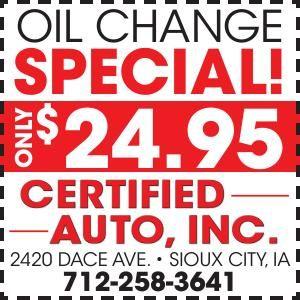 Oil Change $24.95