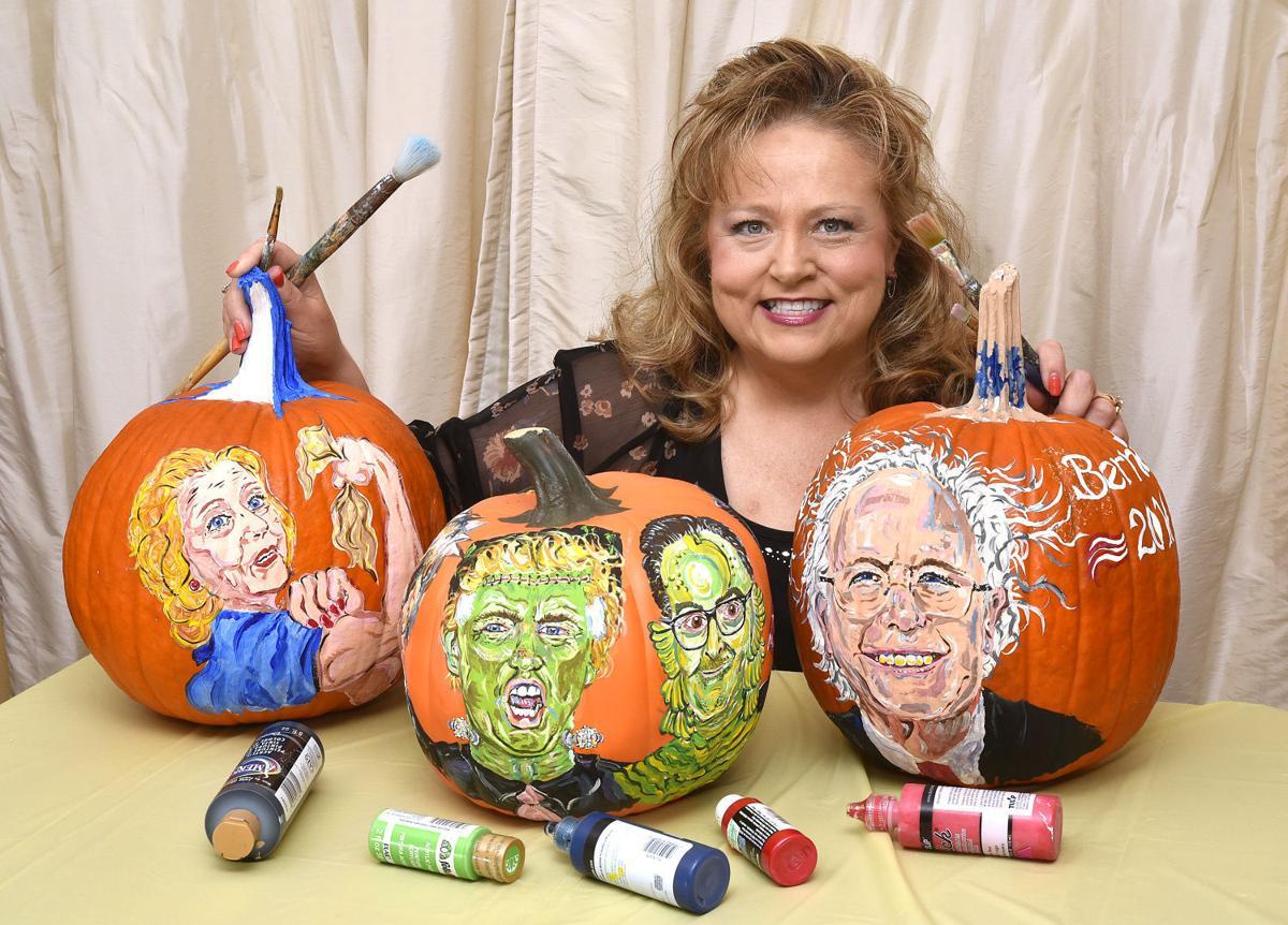 Art painting pumpkins