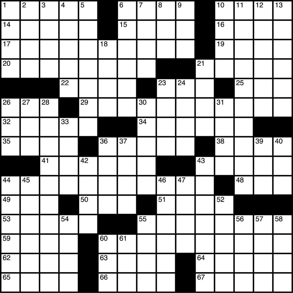 Crossword 1/30