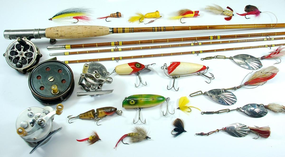 Myhre why not begin collecting vintage fishing tackle for Vintage fishing rod identification
