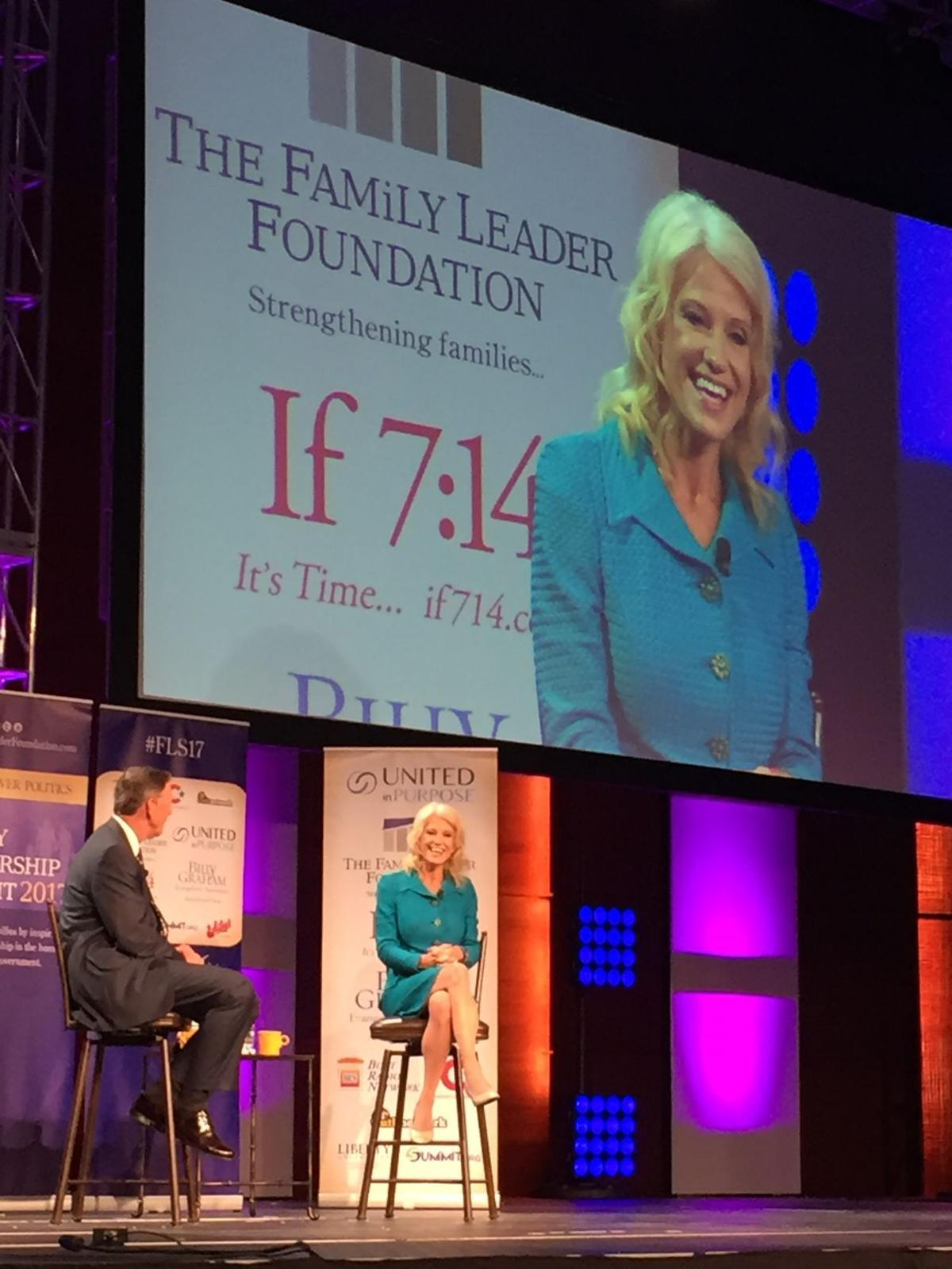 Kellyanne Conway at Family Leader event