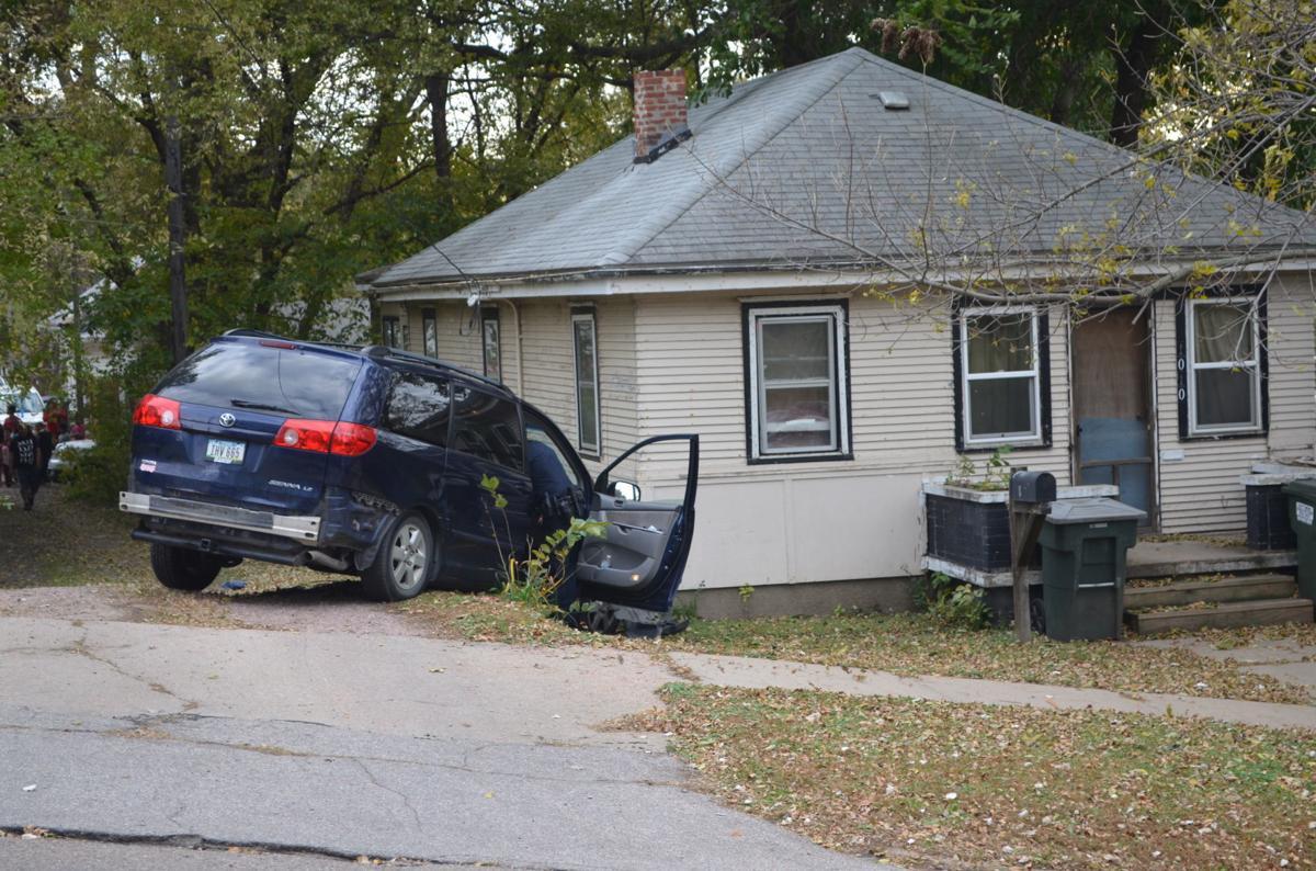 Minivan crash