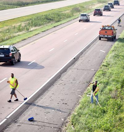 I-29 Sloan bridge struck